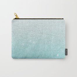 Modern chic teal pastel gradient faux glitter Carry-All Pouch