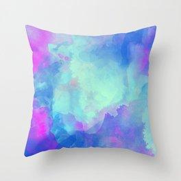 Watercolor abstract art Throw Pillow