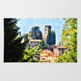 Duomo of Barga (color) Rug
