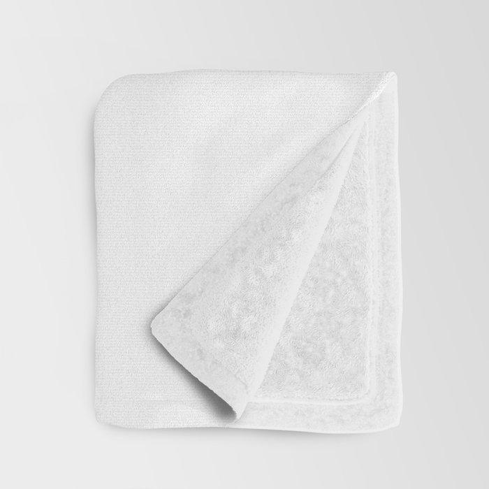 Letter R Initial Monogram Black and White Throw Blanket