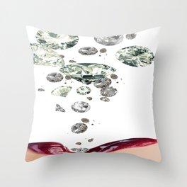 Falling Diamonds Throw Pillow