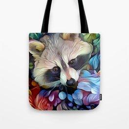 Peekaboo Raccoon Tote Bag