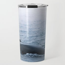 Humpback whale in the minimalist fog - photographing animals Travel Mug