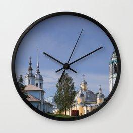 Vologda Kremlin In The Morning Wall Clock