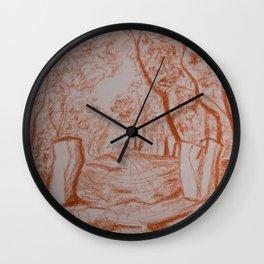 Landscape drawing Wall Clock