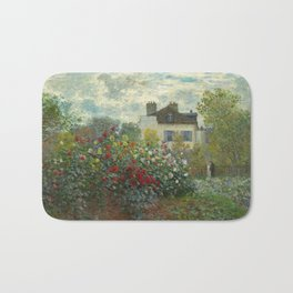 Claude Monet The Artist's Garden in Argenteuil, 1873 Bath Mat