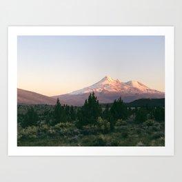 Mt. Shasta at Sunset Art Print