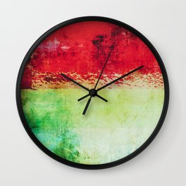 Modern Texture Red Abstract Wall Clock