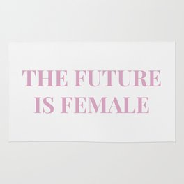 The future is female white-pink Rug