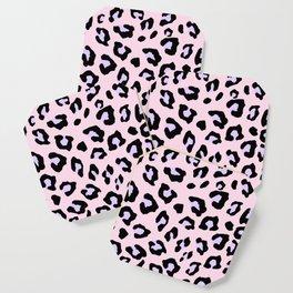 Leopard Print - Lavender Blush Coaster