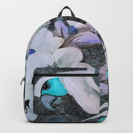 PARROT AND MAGNOLIA IMPRESSION IN BLUE AND LILAC Backpack