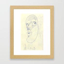 ding Framed Art Print