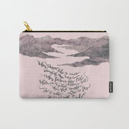 It Is Well With My Soul -pink&grey Carry-All Pouch