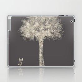 Palm tree - botanical silver illustration Laptop & iPad Skin