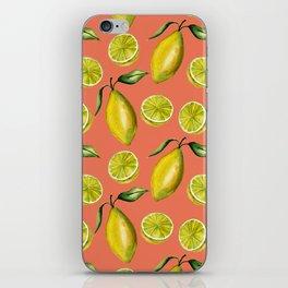 Lemons pattern iPhone Skin