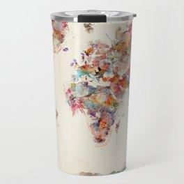 world map watercolor deux Travel Mug