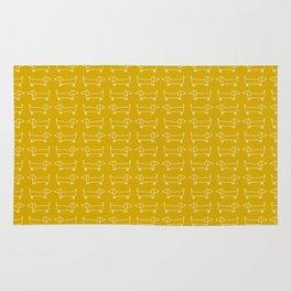 Dachshunds in honey yellow Rug