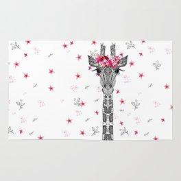 FLOWER GIRL GIRAFFE Rug
