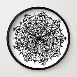 Mandala: ornate and detailed Wall Clock