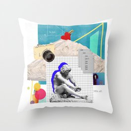 Mix Graphic Classical Statue Throw Pillow