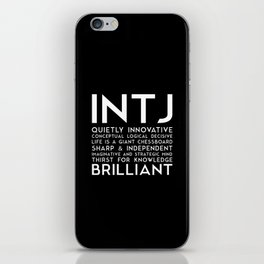 INTJ (black version) iPhone Skin