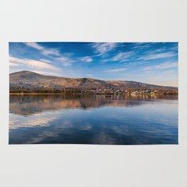Llanberis Lake Reflections Rug