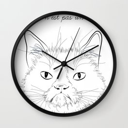 ceci n'est pas un chat Wall Clock