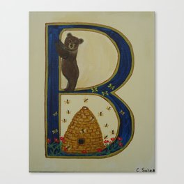 Letter B is for bears ad bees Canvas Print