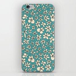 garland flowers blue iPhone Skin