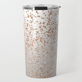 Glitter sparkle mix - rose gold & silver Travel Mug
