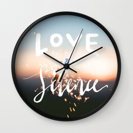 Love & Science Wall Clock