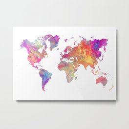Map of the world #map #world Metal Print