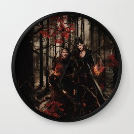 Outlaw Queen - Prince of Thieves and The Queen Wall Clock