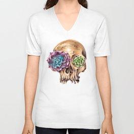 Blooming skull Unisex V-Neck
