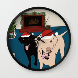 Labs Love Christmas! Wall Clock