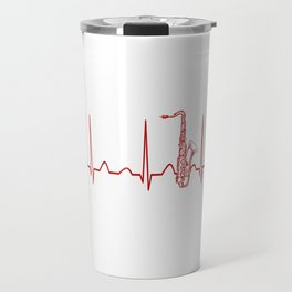 SAXOPHONE HEARTBEAT Travel Mug