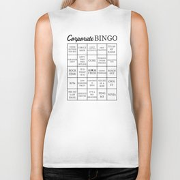 Corporate Jargon Buzzword Bingo Card Biker Tank