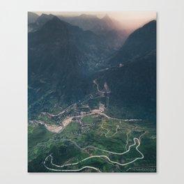 Mountainous town, Sa Pa, Vietnam Canvas Print