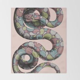Tear drop snake Throw Blanket