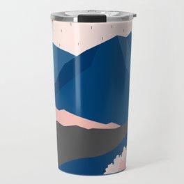 Mt Cook New Zealand Geometric Mountain Art Travel Mug