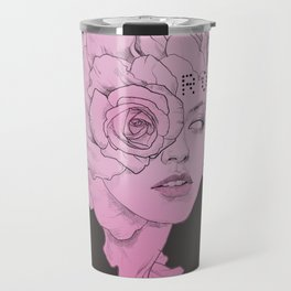 rose black Travel Mug