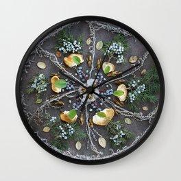 Nature Mandala: February Wall Clock