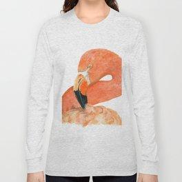 Breezy Flamingo by Teresa Thompson Long Sleeve T-shirt