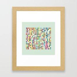 Geometric palette Framed Art Print