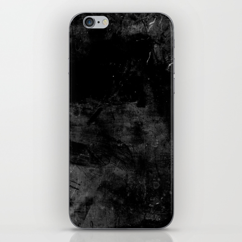 Black As Coal Iphone & Ipod Skin by Patternlikehell PSK8949946