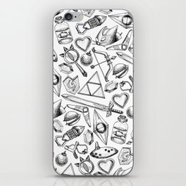 Zelda A Collection of Items Pattern iPhone Skin