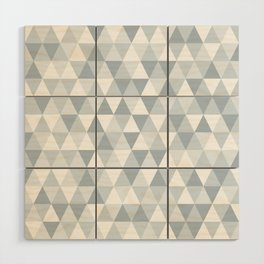 shades of ice gray triangles pattern Wood Wall Art