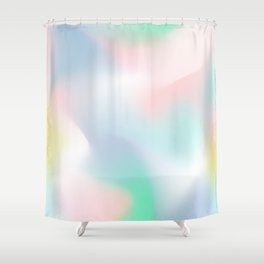 Rainbow Abstract (Soft Pastel) Shower Curtain