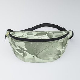 Watercolor Autumn Leaves 3 Fanny Pack