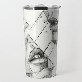 Surreal Geometry Shapes Travel Mug